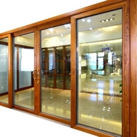 生产铝木重型电动提升推拉门铝型材及成品