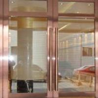 100系列地弹门型材及成品制作安装