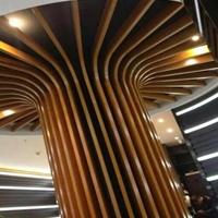 开封木纹弧形铝方通装潢  异型铝方管厂家