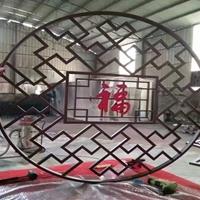 上海刨花木纹铝花格装饰  烤漆铝窗花厂家