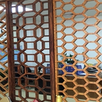 邵阳热转印木纹铝窗花  铝窗花屏风供应商