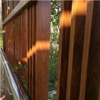 国钜供应木纹方通格栅围栏护栏