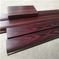 国钜木纹铝方管铝扁管木纹铝凉亭铝格栅