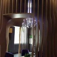 唐山外墙弧型铝方通订做艺术异形铝方管厂家