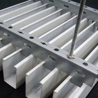 白色U型铝方通吊顶学校会议室木纹铝方通