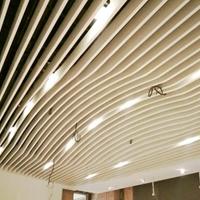 U型木纹铝格栅_白色铝格栅吊顶_铝格栅天花