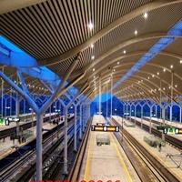 机场能源站U型木纹铝方通吊顶