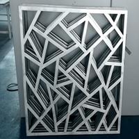 仿古步行街门楣装饰铝合金窗花定制