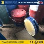 一体式高端油桶压扁机