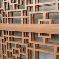 上海烤漆木纹色铝窗花 方通焊接铝花格厂家