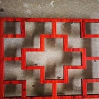 株洲烤漆鋁窗花幕墻 中式木紋鋁窗花廠家