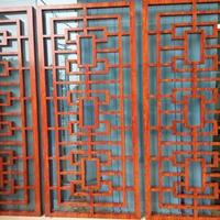 南京仿古铝窗花订做 木纹铝花格幕墙厂家