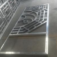 鋁藝防護格窗-仿木色鋁合金花格窗