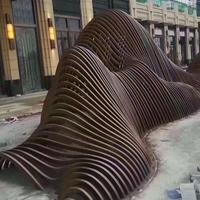 梧州东站候车区幕墙造型铝方通_造型方通
