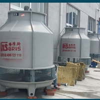冷水机降温用冷却塔 15吨玻璃钢凉水塔