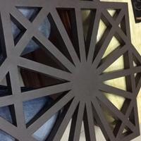 黑色方管镂空铝窗花装饰-烤漆铝窗花