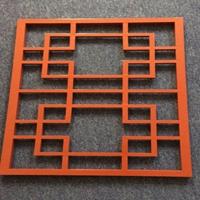 簡約風中式鏤空裝飾木紋鋁窗花-廠家定制