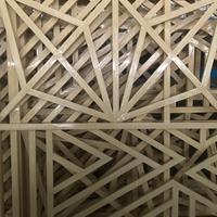 中式防盗网-木纹色铝窗花规格