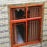 木纹色木纹铝窗花-防盗网多少钱