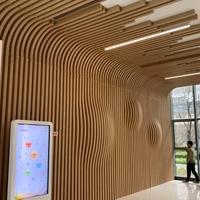 梧州东高铁站候车区幕墙造型铝方通