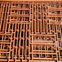 铝合金中式防盗网-木纹色铝窗花价格