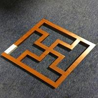 加工3040管材焊接木纹铝窗花防盗网
