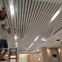 梧州东站幕墙铝方通_室内幕墙造型方通