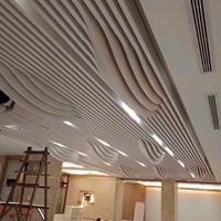高铁站幕墙弧形铝方通_外墙装饰波造型单板