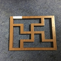 防盜網-中式木紋鋁窗花的廠家