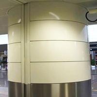 单板 包柱雕花木纹铝单板装饰厂家