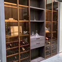 极简轻奢玻璃柜门定制材料模具批发厂家