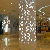 泉州艺术柱体铝单板-弧形包柱铝建材订购