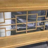 厂家直销木纹格栅铝窗花-生产厂家