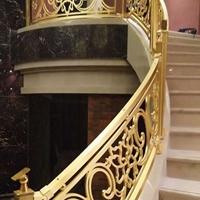 别墅楼梯扶手铜艺楼梯扶手镂空雕花铜雕楼梯
