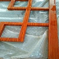 50乘50方管焊接式鋁窗花-木紋鋁窗花
