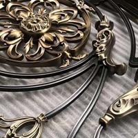 別墅銅藝鋁樓梯扶手-銅藝立體浮雕護欄