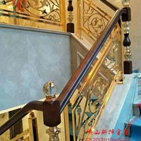 鋁板線條雕刻扶手 藝術浮雕鋁藝樓梯圍欄