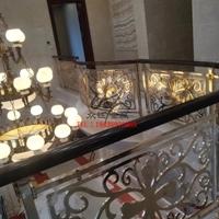 酒店純銅雕刻鏤空樓梯護欄廠家
