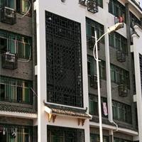街道改造鋁格柵窗,古典鋁格柵屏風