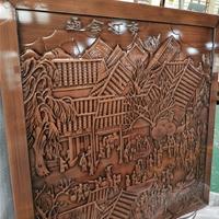 客厅装饰壁画纯铜浮雕壁画定制