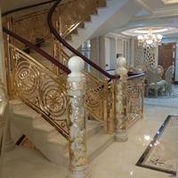 優質鋁弧形鏤空樓梯護欄更顯別墅奢華