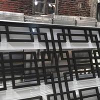 销售楼建筑铝窗花 隔断式窗花装饰效果