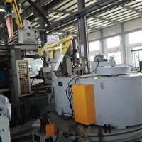 联体式铝合金双子炉 旋转式熔化炉