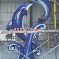 模仿不锈钢海豚雕塑 不锈钢跳跃海豚雕塑