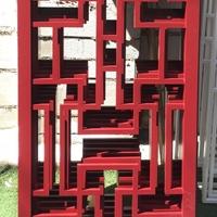 木纹铝窗花 形象铝装饰 工程案例效果图