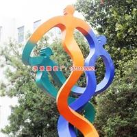 不锈钢三人跳舞雕塑 舞动不锈钢雕塑图片