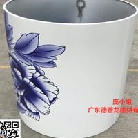 展廳圓柱_立柱3D彩繪鋁單板'清花瓷'廠