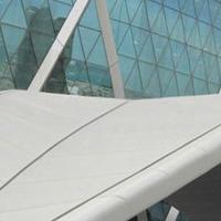 樓盤外墻鋁單板 門頭飄棚檐口灰色鋁單板