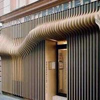 幕墙装饰造型铝方通_木纹造型铝方通吊顶