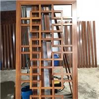 铝方管焊接木纹工艺铝窗花定制